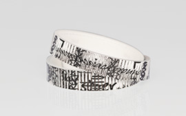 Bracelet – Corrugation, Black/white